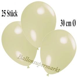 Deko-Luftballons Elfenbein, 25 Stück