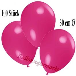 Deko-Luftballons Fuchsia, 100 Stück