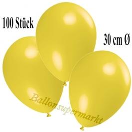 Deko-Luftballons Gelb, 100 Stück