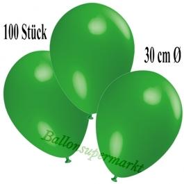 Deko-Luftballons Grün, 100 Stück