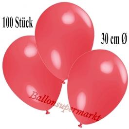 Deko-Luftballons Hellrot, 100 Stück