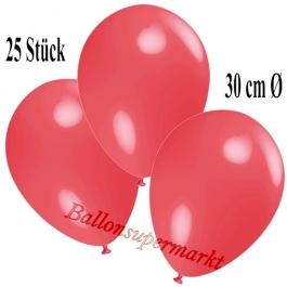 Deko-Luftballons Hellrot, 25 Stück