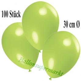 Deko-Luftballons Limonengrün, 100 Stück