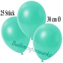 Deko-Luftballons Metallic Aquamarin, 25 Stück