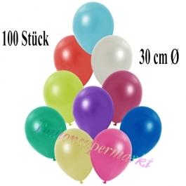 Deko-Luftballons Metallic Bunt gemischt, 100 Stück
