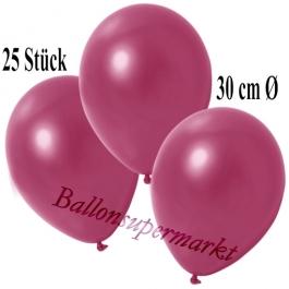 Deko-Luftballons Metallic Burgund, 25 Stück