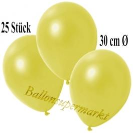 Deko-Luftballons Metallic Gelb, 25 Stück