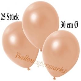 Deko-Luftballons Metallic Lachs, 25 Stück