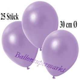 Deko-Luftballons Metallic Lila, 25 Stück