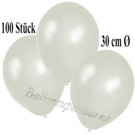 Deko-Luftballons Metallic Perlmutt, 100 Stück