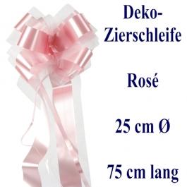 Schleife, Deko-Schleife, Zierschleife, 25 cm groß, Rosee