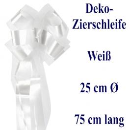 Schleife, Deko-Schleife, Zierschleife, 25 cm groß, Weiß