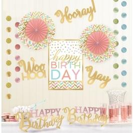 Geburtstagsdeko-Set Confetti Fun, 12-teilig