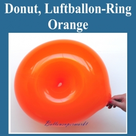 Ring-Luftballon, orange, Ringballon, Latexballon in Ringform zur Ballondekoration