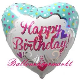 Happy Birthday Herzluftballon Princess B Day, Ballon zum Geburtstag inklusive Helium