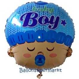 Luftballon mit Helium zu Geburt und Taufe eines Mädchens: Baby Boy Head