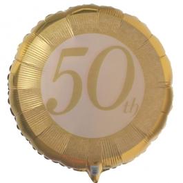 Luftballon zur Goldhochzeit ohne Helium
