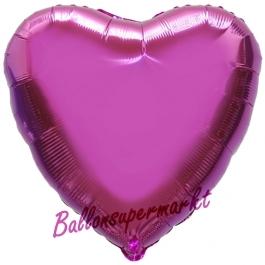 Herzluftballon Pink, Ballon in Herzform mit Ballongas Helium