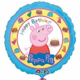 Peppa Wutz Geburtstags-Luftballon aus Folie mit Helium