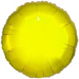 """Runder Luftballon aus Folie, Gelb, 18"""""""