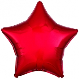 Sternballon Rot, 45 cm, Luftballon aus Folie