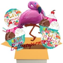 5 stück Luftballons zum Geburtstag, Flamingo Birthday
