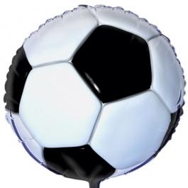 Fußball Luftballon aus Folie inklusive Helium