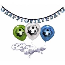 Fussball Dekorations-Set zum Geburtstag