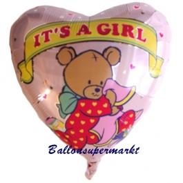 Geburt Herzluftballon Girl