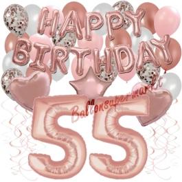 Dekorations-Set mit Ballons zum 55. Geburtstag, Happy Birthday Dream, 42 Teile