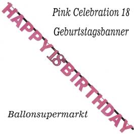 Geburtstagsbanner Pink Celebration 18