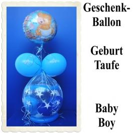 Geschenkballon zu Geburt und Taufe, Boy, Junge
