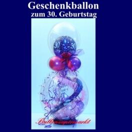 Geschenkballon zum 30. Geburtstag