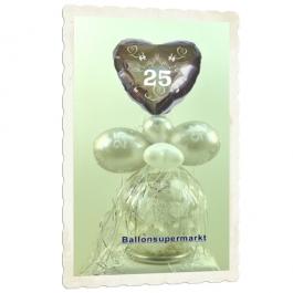 Geschenkballon zur Silberhochzeit, 25 Jahre