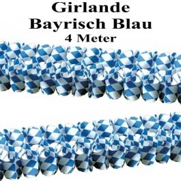 Girlande Bayrisch Blau, 4 Meter