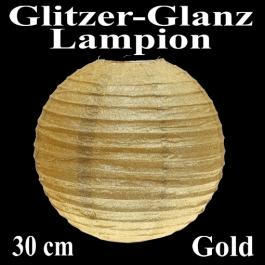 Glitzer-Glanz Lampion Gold, 30 cm
