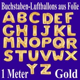 Große Buchstaben-Luftballons aus Folie in Gold