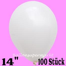 """Große Luftballons, weiß, Größe 14"""", 100 Stück"""