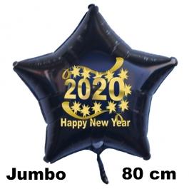 Riesiger Silvester Luftballon, Sternballon aus Folie, 2020 - Happy New Year