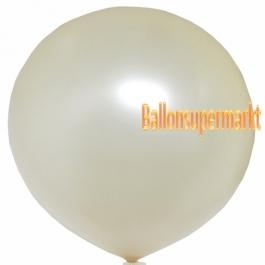 Großer Rund-Luftballon, Creme, Metallic, 1 Meter