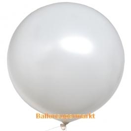 Großer Rund-Luftballon, Weiß, 1 Meter