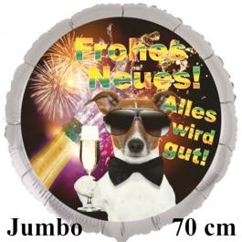 Großer Silvester Luftballon: Frohes Neues! Alles wird gut!