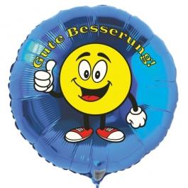 Gute Besserung, Luftballon aus Folie mit Ballongas, Emoticon - Thumps up