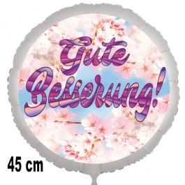 Gute Besserung! Luftballon, blossoms, aus Folie, 45 cm, mit Ballongas