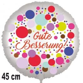 Gute Besserung! Ballon Colored Dots aus Folie, 45 cm, mit Ballongas