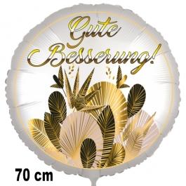 Gute Besserung! Luftballon, golden leaves, aus Folie, 70 cm, mit Ballongas