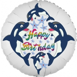 Happy Birthday Delfine Kindergeburtstag Luftballon mit Helium