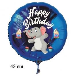 Happy Birthday Elefant Kindergeburtstag Luftballon mit Helium