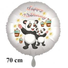 Happy Birthday Großer Kindergeburtstag Luftballon mit Panda Bären