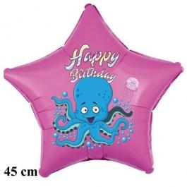 Happy Birthday Oktopus Kindergeburtstag Luftballon mit Helium